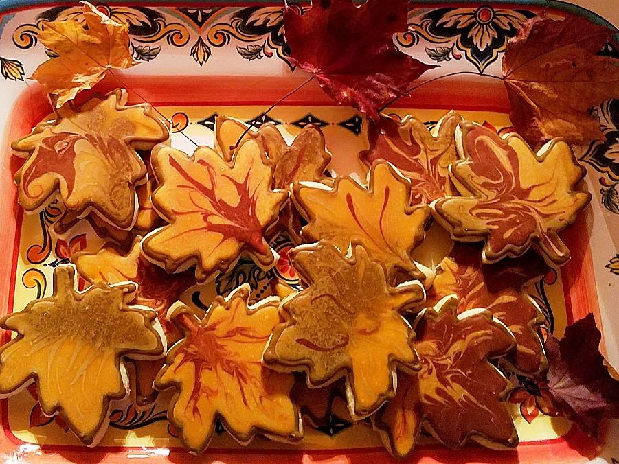 Autumn Maple Leaf Sugar Cookies