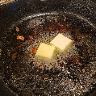 Add the rest of the butter to the skillet until melted.