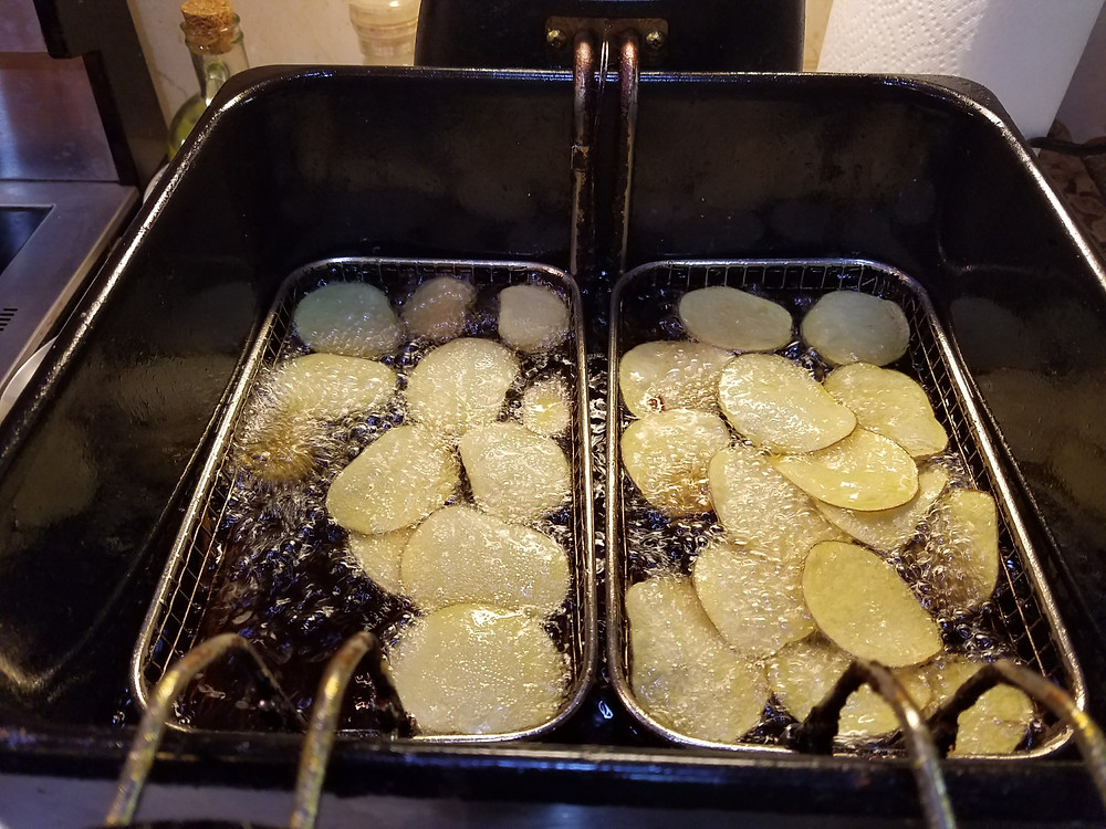 Potato Chips in the Fryer