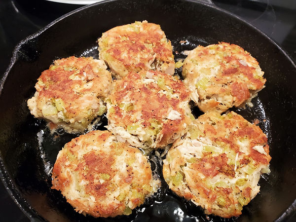Tuna Cakes fried in Bacon Fat