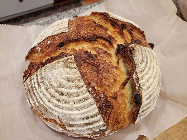 Irish Sourdough Raisin Bread