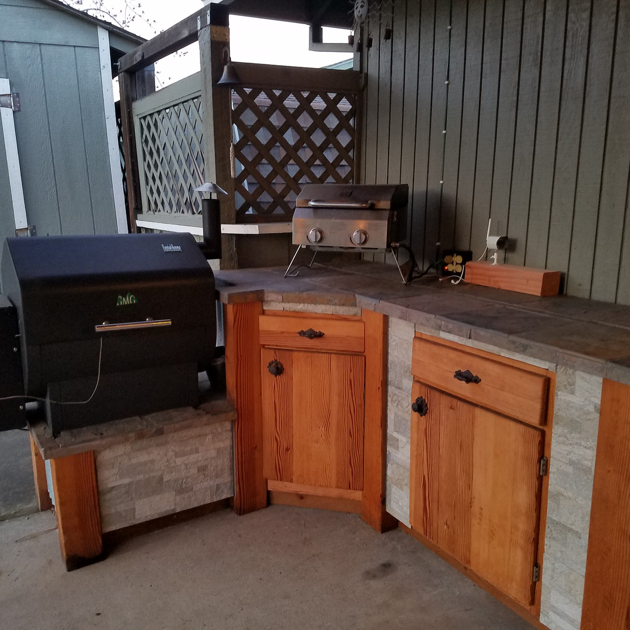 Our new outdoor kitchen!
