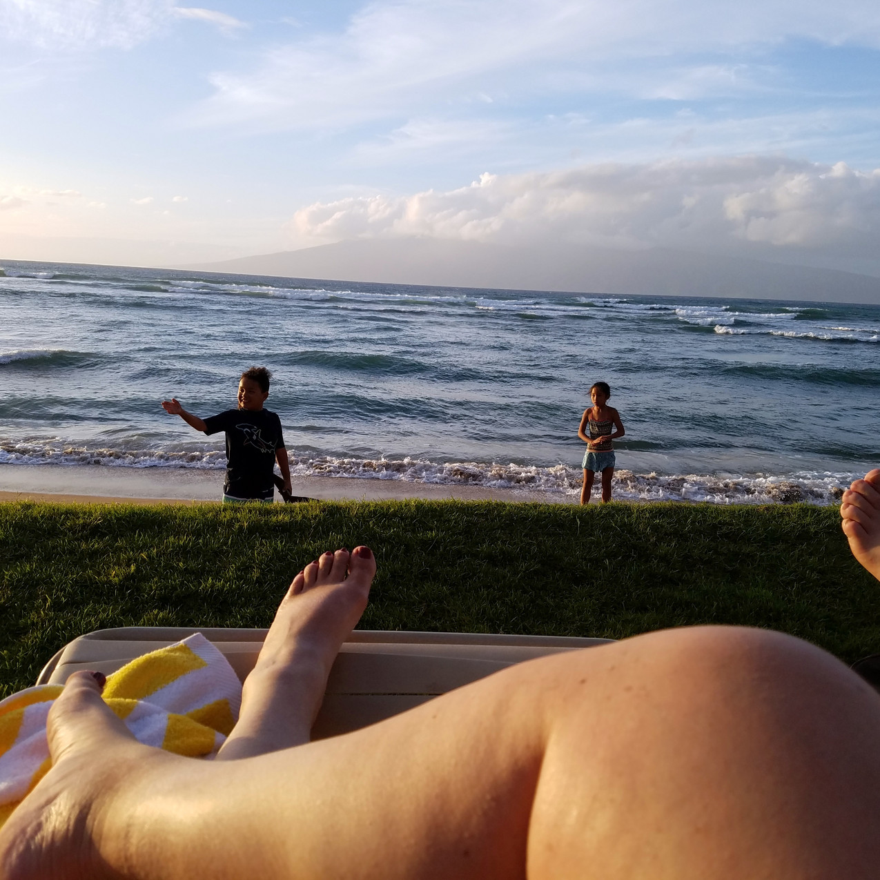 The view from a lounge chair