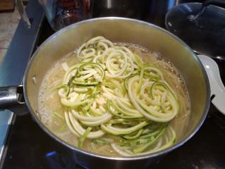 Add the spiralized zucchini