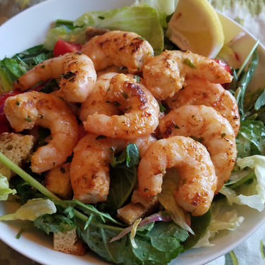 "Spicy ""Slap Ya Mama"" Skillet Shrimp Salad"