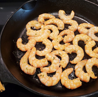They may stick to the skillet at first but will release naturally when they are ready to turn, in about 2 minutes.