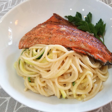 Sockeye Salmon and Pasta Zoodles