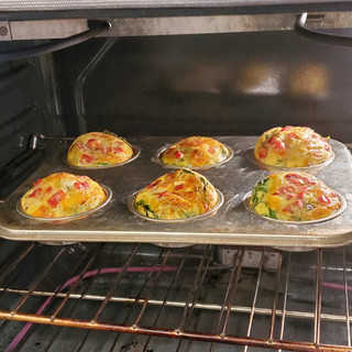 The muffins will rise up quite high.