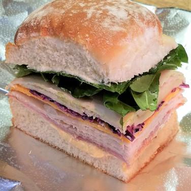 Ham and Turkey Potato Roll Sliders