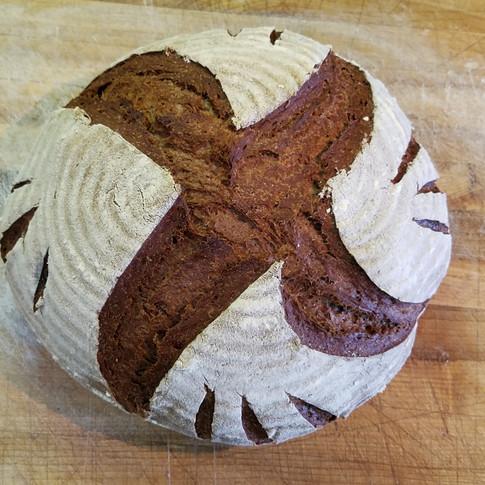 Chocolate Rye Sourdough Bread