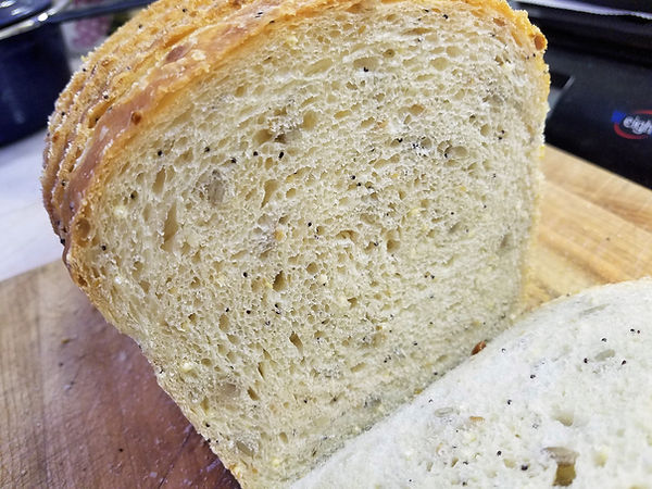 Seeded Sourdough Sandwich Bread
