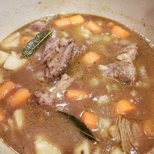 Simmer for another 45 - 60 minutes until the meat and vegetables are tender.