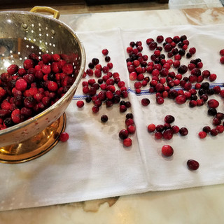 Sort the cranberries.
