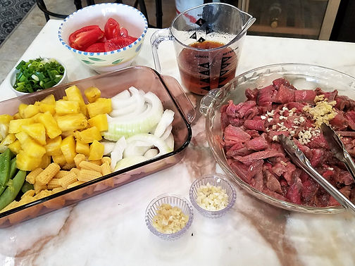 Hawaiian Beef Stir-fry