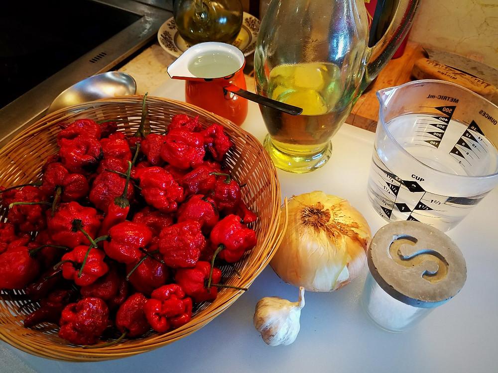 Carolina Reaper pepper sauce