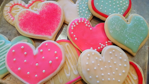 Sweet Valentine Sugar Cookies