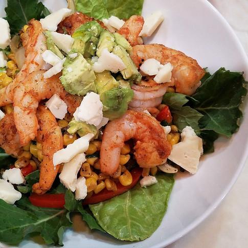 Gulf Shrimp and Summer Corn Stir-fry Salad