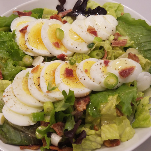 Bacon Egg Garden Salad with Warm Butter Dressing