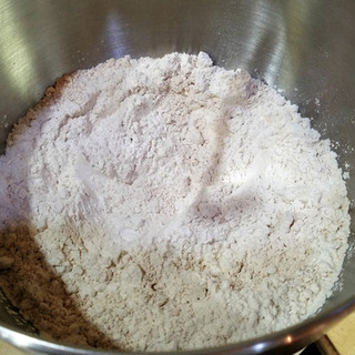 Mix for 5 seconds with a dough hook or stir with a spoon to blend.