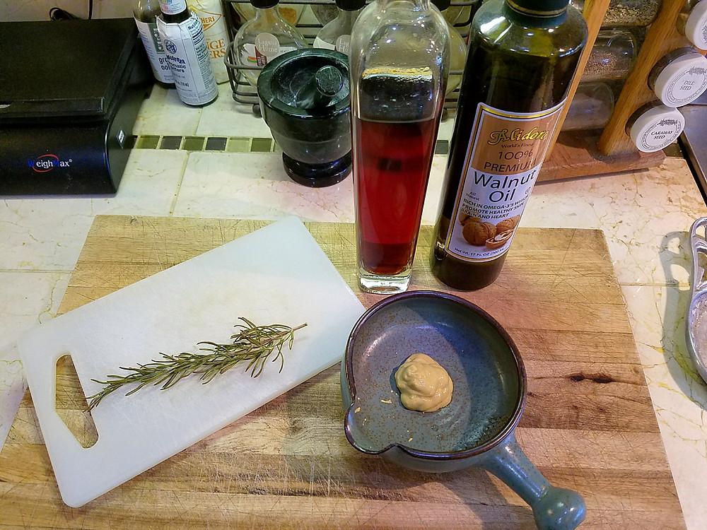 Charred Rosemary Vinaigrette Ingredients