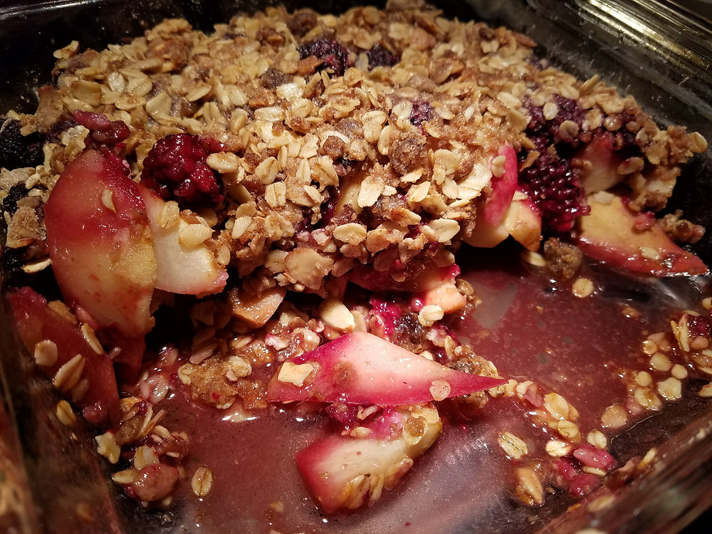 Pear Blackberry Crisp