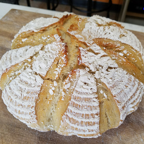 Simple Semolina Sourdough Bread