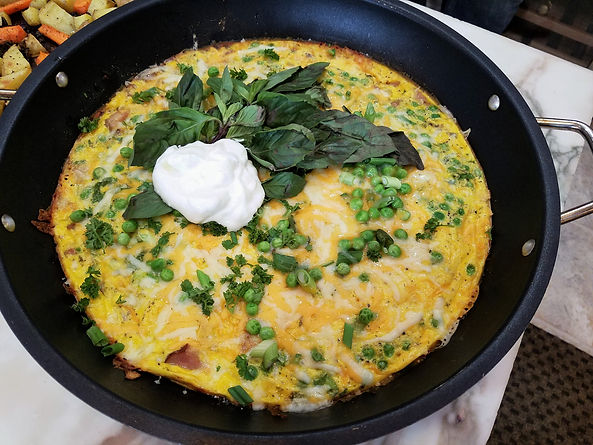 Baked Ham and Vegetable Frittata