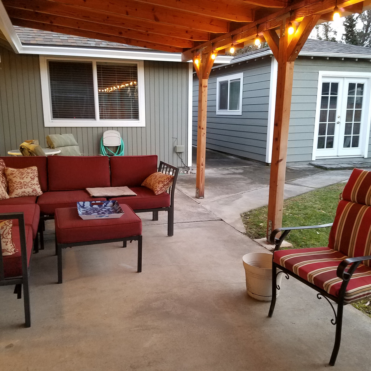 We love the outdoor living room too.