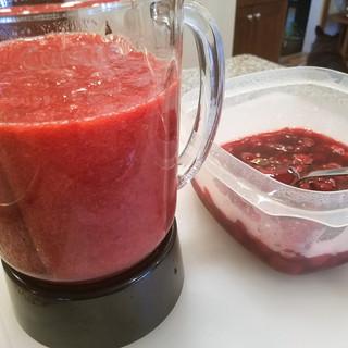 Puree the cherries.