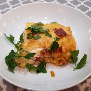 Bacon Pumpkin Lasagna