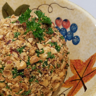 Toasted Hazelnut Smoked Salmon Cheese Ball