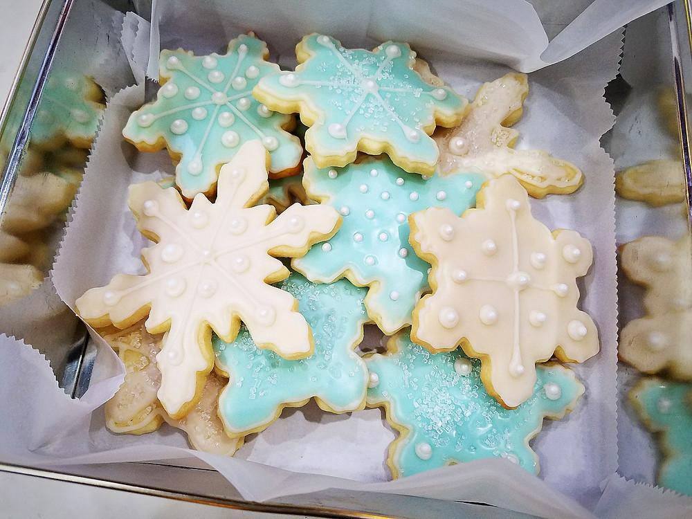 Christmas Snowflake Sugar Cookies