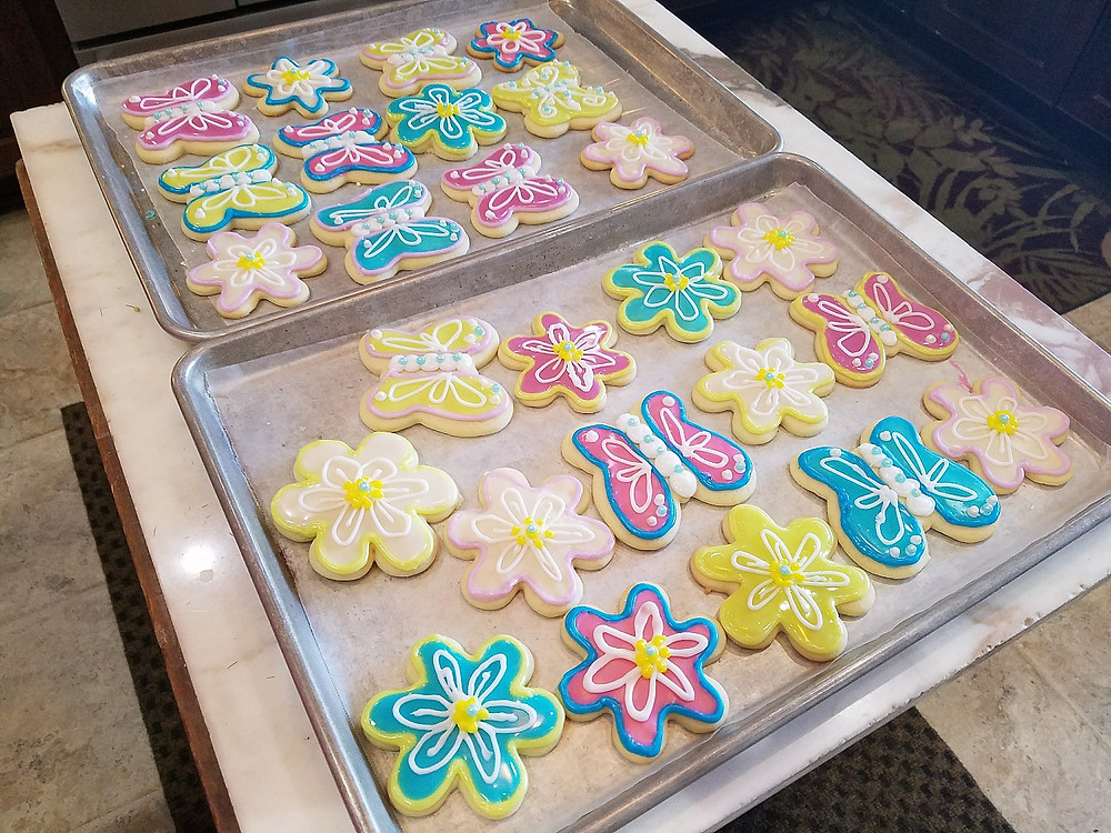Spring Butterfly and Daisy Sugar Cookies