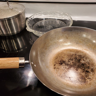 Have a plate ready to remove the chicken to while stir-frying the two batches.