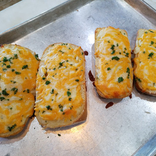 These breads are like pillows of cheese with just a smidgen of crispiness at the edges.