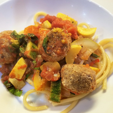 Turkey Meatballs with Summer Squash