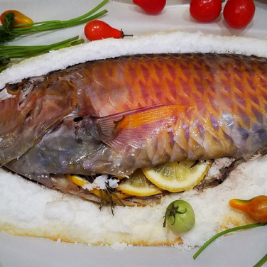 Salt Baked Whole Fish