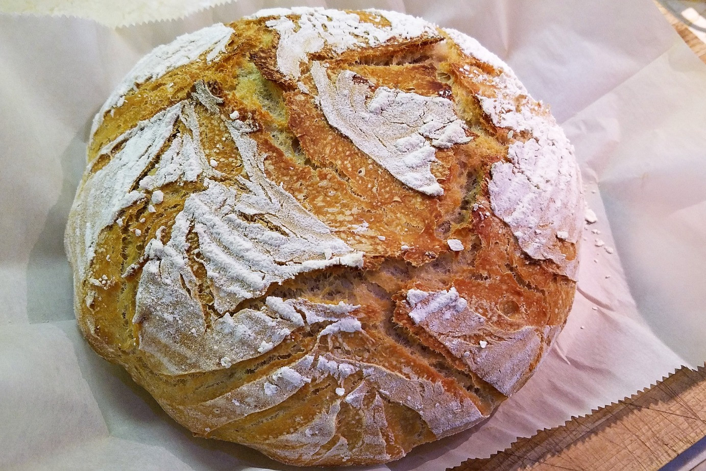 Rustic Sprouted Wheat Sourdough