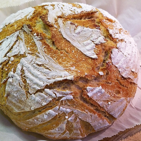 Rustic Sprouted Wheat Sourdough Bread