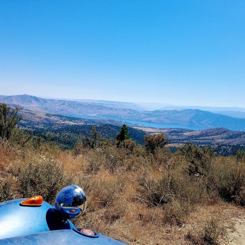 Looking down at Lake Chelan