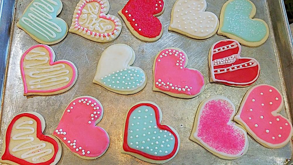 Sweet Valentine Sugar Cookies