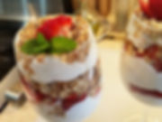 Strawberry Granola  Whipped Cream Parfait