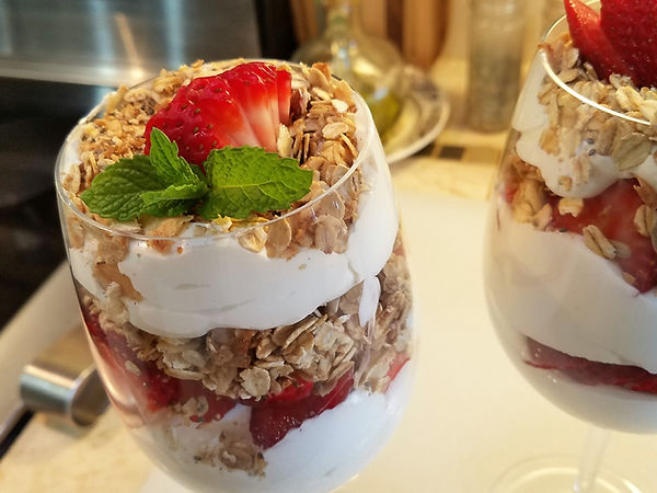 StrawberryGranola Whipped Cream Parfait
