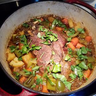 Stir in the chopped parsley.