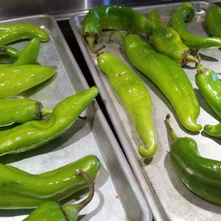 Roast your chilis under a broiler until they blister and char.