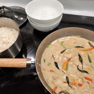 I started this rice first so it would be ready to go when the stir-fry was finished.