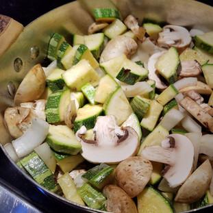 Stir-fry the vegetables