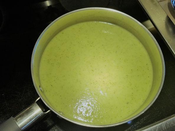 """Zucchini Pea """"Slime"""" Soup Recipe"""