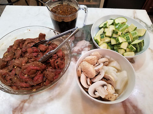 Black Pepper Zucchini Beef