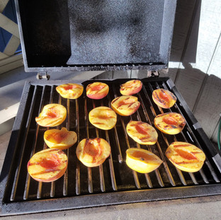 Add them cut side down to the grill for about 5-8 minutes.